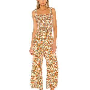 Faithfull the Brand Bernard Smock Floral Jumpsuit